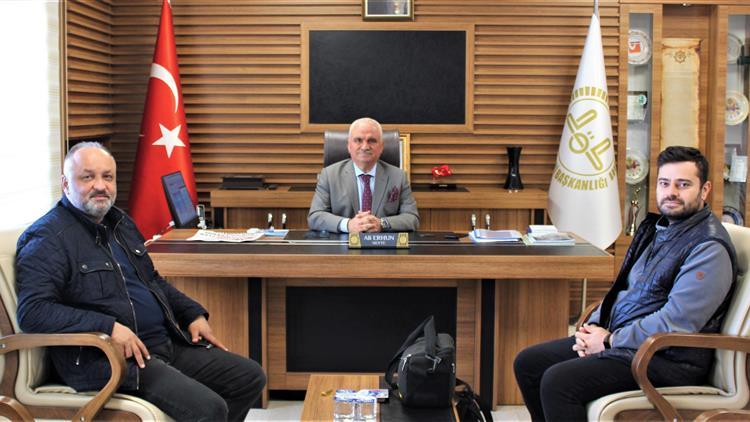 Bilecik'de Değişim Gazetesi Muhabiri Harun Kaymaz Ve Anadolu Ajansı Bilecik Il Temsilcisi Yavuz Emrah Sever'den Il Müftüsü Ali Erhun'a Ziyaret
