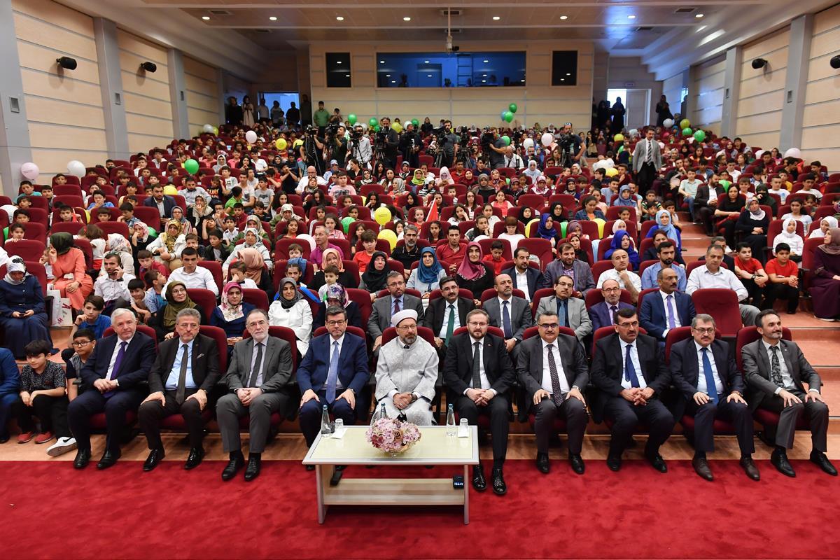 Diyanet Işleri Başkanı Erbaş, 2019 Yılı Yaz Kur'an Kursları Açılış Programı'na Katıldı