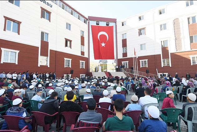 Nevşehir'de Diyanet Işleri Başkanı Erbaş Acıgöl Ilçe Müftülüğü'ne Bağlı şeyh-ül Kurra Ibrahim Tanrıkulu Kur'an Kursunun Resmi Açılışını Yaptı