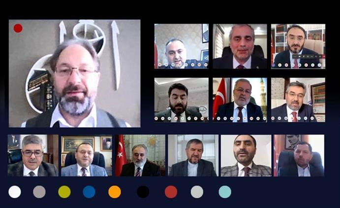 Adiyaman'da Diyanet Işleri Başkanı Prof. Dr. Ali Erbaş Bölge Il Müftüleri Video Konferans Yöntemiyle Toplantı Gerçekleştirdi.