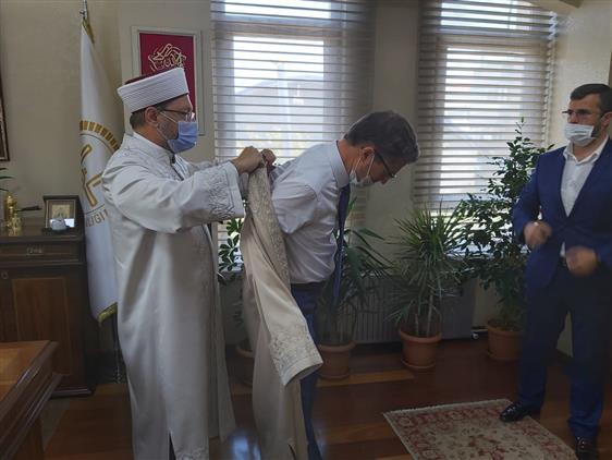Nevşehir'de Diyanet Işleri Başkanı Prof. Dr. Ali Erbaş, Il Müftülüğünü Ziyaret Etti...