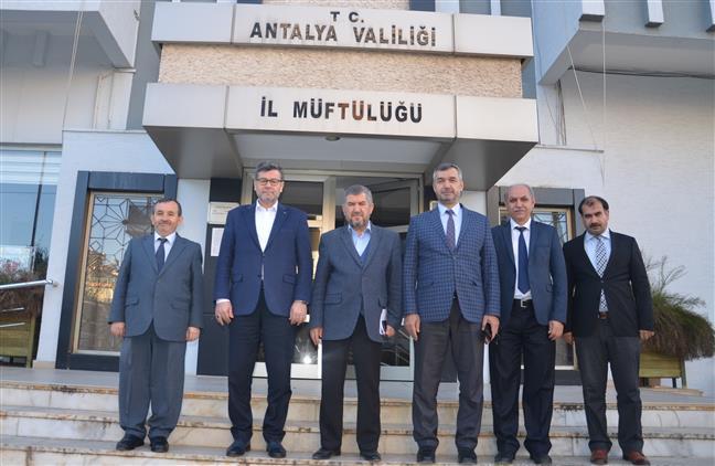 Antalya'da Diyanet Işleri Başkan Yardımcımız Prof. Dr. Ramazan Muslu, Il Müftülüğümüzü Ziyaret Etti