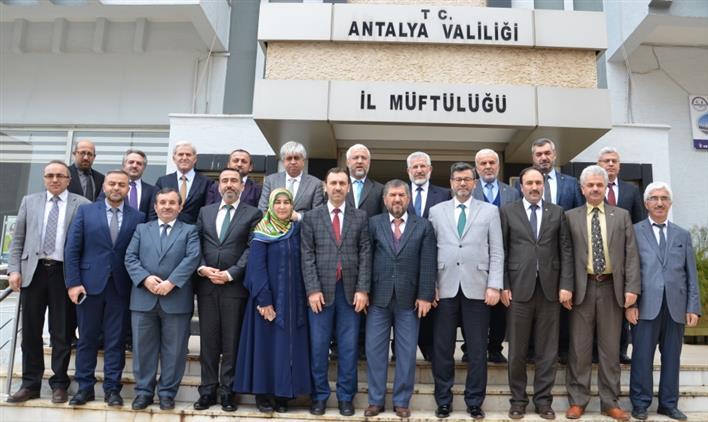 Antalya'da Diyanet Işleri Başkan Yardımcısı Muslu Müftülerimiz Ile Buluştu