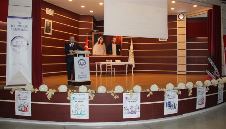 Bolu'da Diyanet Işleri Başkan Yardımcısından Muhteşem Konferans