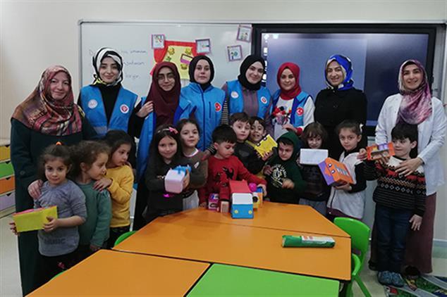Rize'de Idlib'e Yardım Kampanyasına Kur'an Kurslarımızdan Destek