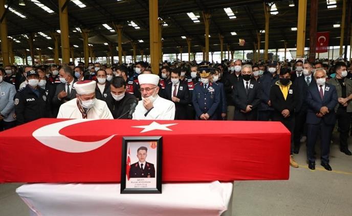 Konya'da şehit J. Uzm. çvş. Burak Aydoğan, Dualarla Uğurlandı
