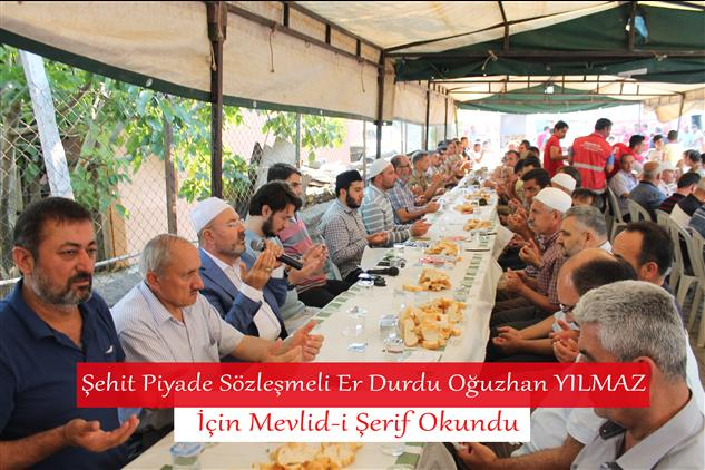 Osmaniye'de şehit Piyade Sözleşmeli Er Durdu Oğuzhan Yılmaz Için Mevlid-i şerif Okundu