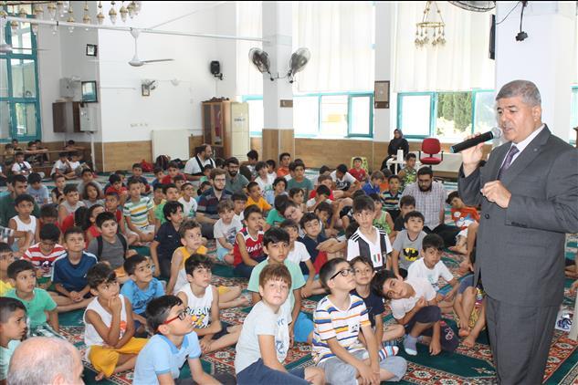 Hatay'da şehit şenol çiftçi Iho Yaz Kur'an Kursu öğrencileri 15 Temmuz şehitlerini Andı