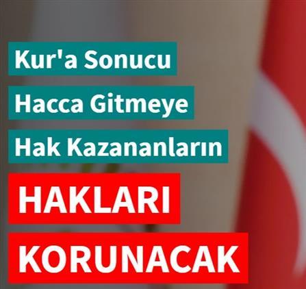 Karaman'da Erbaş: Kur'a Sonucu Hacca Gitmeye Hak Kazananların Hakları Korunacak