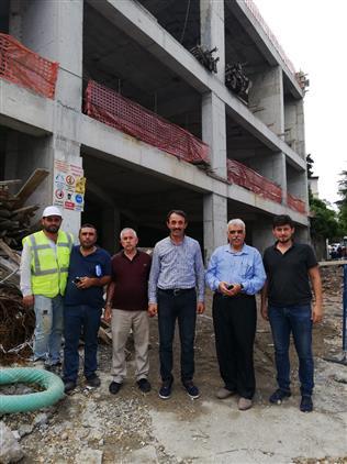 Bilecik'de Ertuğrul Gazi Cami Inşaatına Denetim
