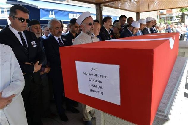 Erzurum şehidini Son Yolculuğuna Uğurladı