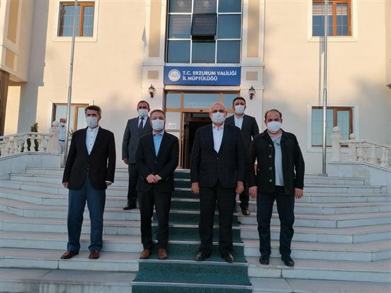 Erzurum Il Müftüsü şahin Yıldırım'a Hayırlı Olsun Ziyareti