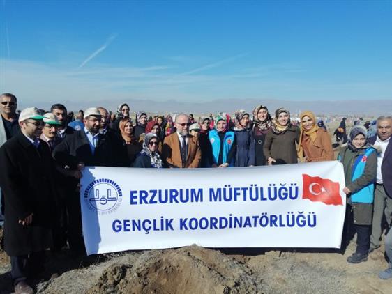 Erzurum Müftülüğü Fidan Dikimi Kampanyası