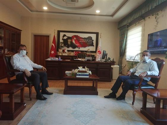 Kahramanmaras'da çevre Ve şehircilik Il Müdürü Osman Arısal'a Iade-i Ziyaret.