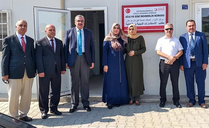 Kahramanmaras'da Geçici Barınma Merkezine Aile Ve Dini Rehberlik Bürosu Açıldı
