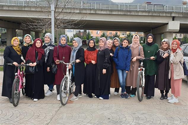 Giresun'da Genç Diyanet Topluluğu'ndan Bisiklet Gezisi