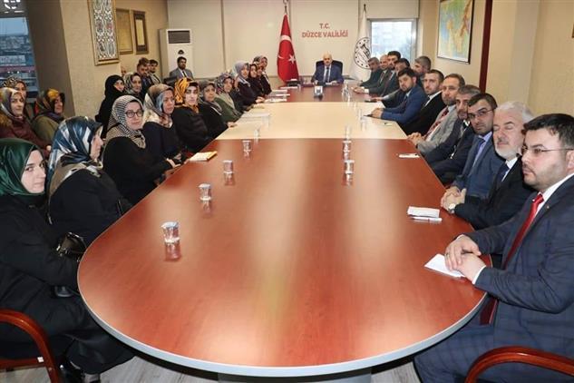 Duzce'de Gençliğe Değer Projesi Değerlendirme Toplantısı Yapıldı.