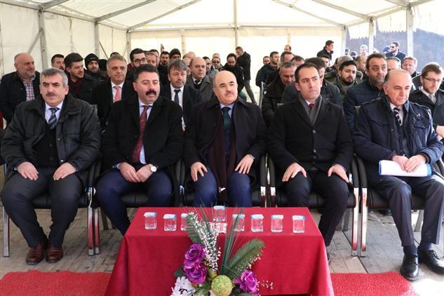 Duzce'de Gümüşova Organize Sanayi Camii Temel Atma Töreni.