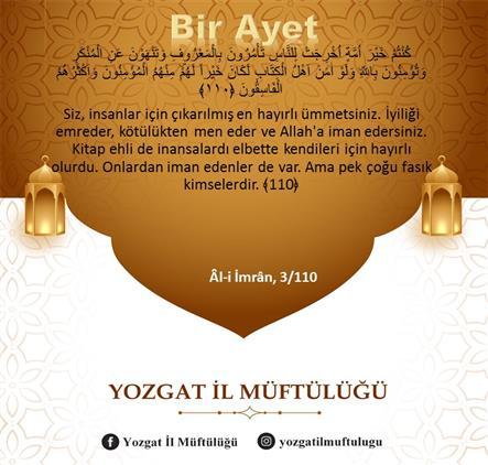 Yozgat'de Günün : Ayeti