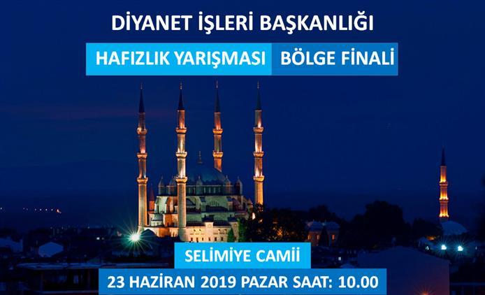 Edirne'de Hafızlık Yarışması Bölge Finali