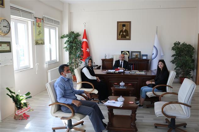 Muş'ta şifa Hastane Yönetimi Müftümüz Lütfü Imamoğlu'nu Makamında Ziyaret Etti.