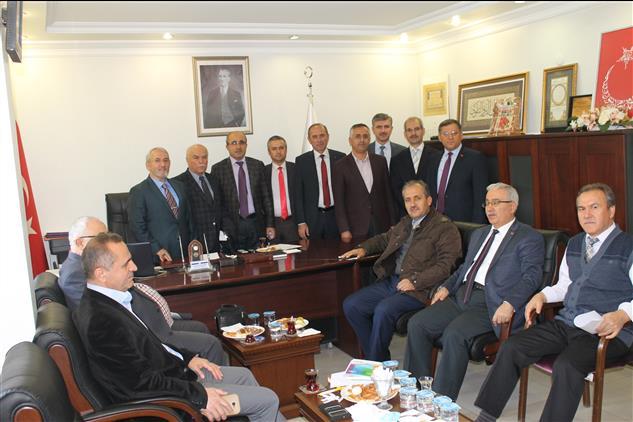 ısparta Ihl Müdürleri Il Müftüsü Bayram şahin'le Buluştu