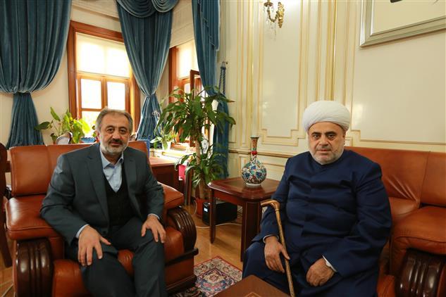 Kafkas Müslümanları Idaresi Başkanı Allahşükür Paşazade, Istanbul Müftüsü Prof. Dr. Mehmet Emin Maşalı'yı Ziyaret Etti.