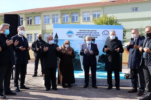 Kayseri'de Kahraman çelebi Cami Ve Hatice çelebi Kur'an Kursu'nun Temeli Dualarla Atıldı
