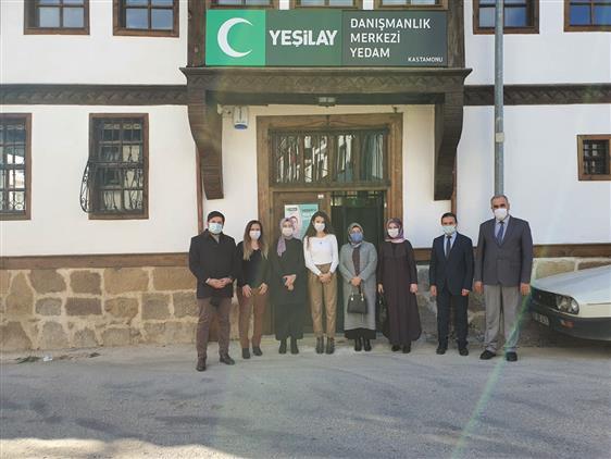 Kastamonu'da Yakın Zamanda Hizmet Vermeye Başlayan Yeşilay Danışma Merkezi Yedam'ı Ziyaret.