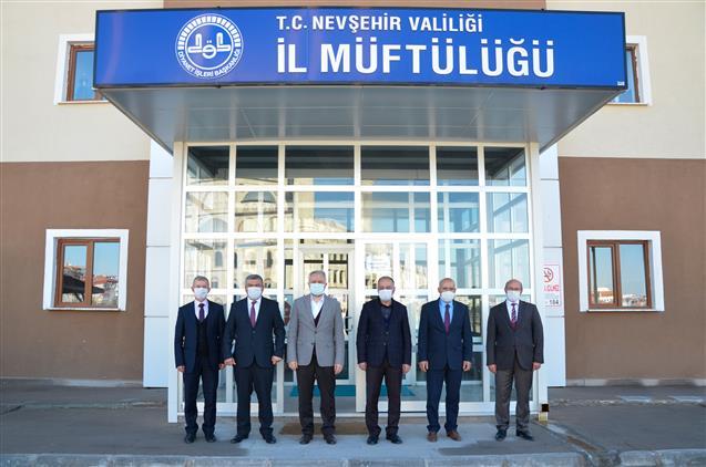 Nevşehir'de Kayseri Ve Yozgat Il Müftülerinden 'hayırlı Olsun' Ziyareti…