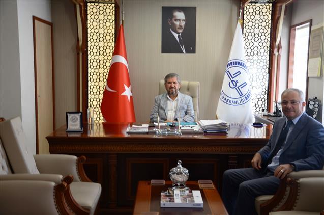 Kktc'nin Antalya Başkonsolosu Beyazbayram'dan Il Müftümüze Ziyaret