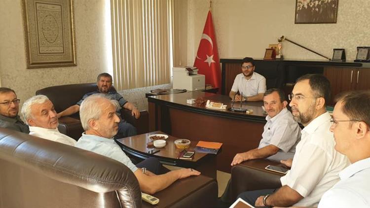 """Antalya'da Konyaaltı Ilçe Müftüsü Orhan Imamoğlu'ya """"hoşgeldiniz"""" Ziyareti"""