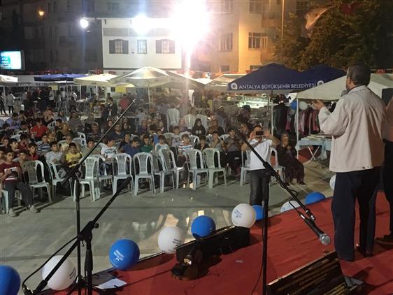 Antalya'da Korkuteli Ilçesi Kuran Kursu Ve Gençlik Merkezi Inşaatı Için Kermes Açılışı Yapıldı
