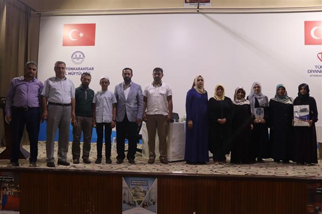 Afyonkarahisar'da Kur'an Kursu öğrencileri Hafızlık Il Birinciliği Yarışması Yapıldı