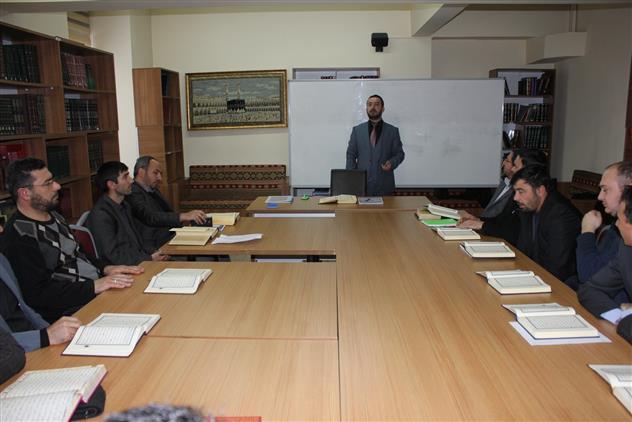 Erzincan'da Kur'an-ı Kerim Hizmet Içi Eğitim Kursu Başladı