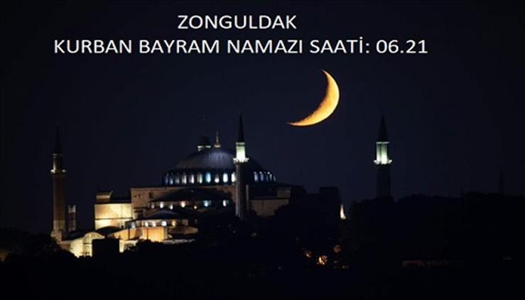 Zonguldak'ta Kurban Bayram Namaz Vakti