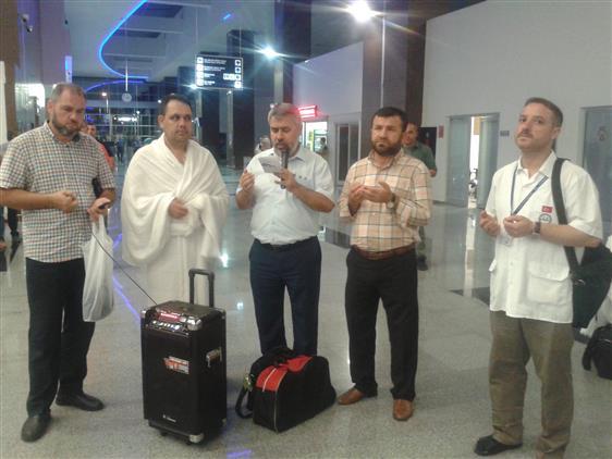 Çanakkale'de Kutsal Topraklara Giden Vatandaşlara Uğurlama Töreni