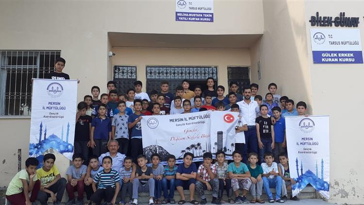 Mersin'de Il Gençlik Koordinatörlüğümüz Yatılı Yaz Kuran Kursu Ziyaretlerinde