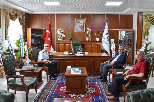 Nevşehir'de Il Jandarma Komutanı J. Kıdemli Albay Hüsamettin Erol'dan 'hayırlı Olsun' Ziyareti