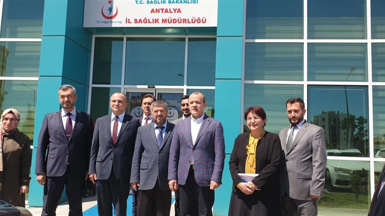 Il Müftülüğü Ve Antalya Manevi Destek Personellerinden, Il Sağlık Müdürü'ne Ziyaret