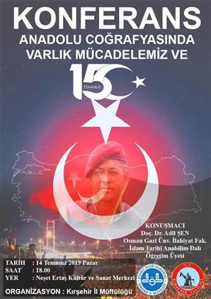 Kırsehir'de Il Müftülüğümüz Tarafından 15 Temmuz Demokrasi Ve şehitleri Anma Programı Düzenlenecek