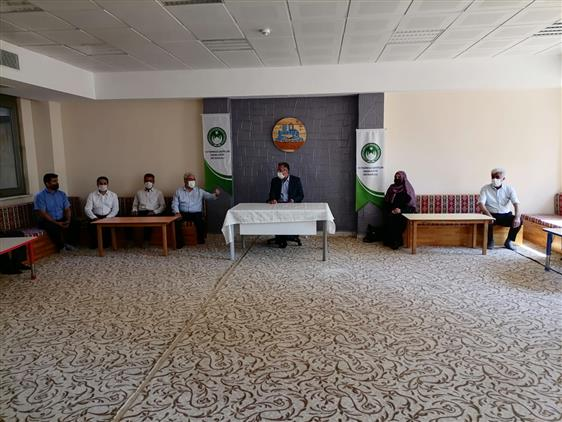 Kahramanmaras'da Il Müftümüz 15 Temmuz şehitler Erkek Yatılı Hafızlık Kur'an Kursu'nu Ziyaret Etti