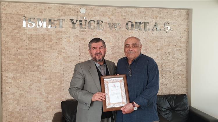 Antalya'da Il Müftümüz Artan Hayırsever Iş Adamı Ismet Yüce'yi Ziyaret Etti