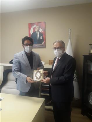 Il Müftümüz Can Düzce Ovası Sulama Birliği Başkanı Abubekir Uzgur'u Ziyaret Etti.