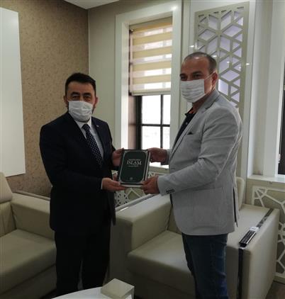 Amasya'da Il Müftümüz Durmuş Ayvaz'dan Ticaret Ve Sanayi Odası Başkanına Iade-i Ziyaret