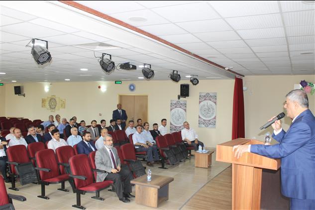 Hatay'da Il Müftümüz, Erzin Ilçe Müftülüğü Ekim Ayı Personel Toplantısına Katıldı