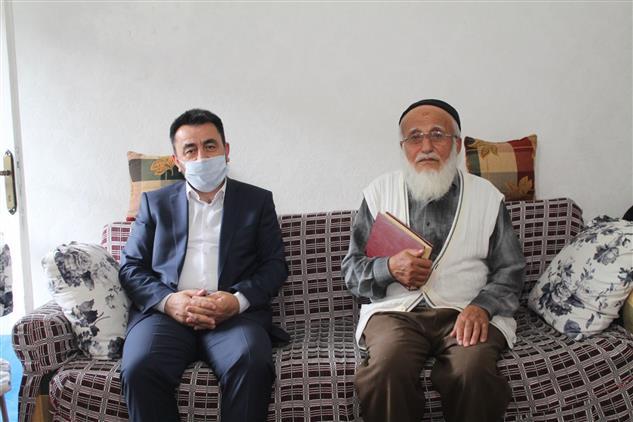 Amasya'da Il Müftümüz Mustafa Buşkun'u Evinde Ziyaret Etti