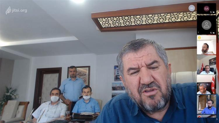 Antalya'da Il Müftümüz Osman Artan, Tüm Ilçe Müftüleri Ile Telekonferans Yöntemiyle Toplantı Gerçekleştirdi.