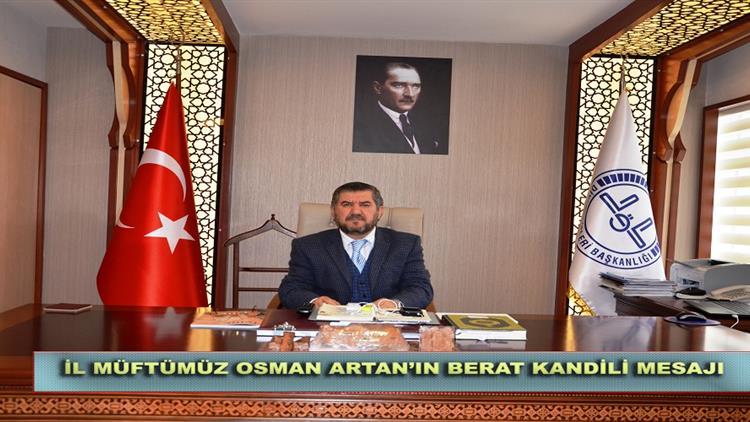 Antalya'da Il Müftümüz Osman Artan'ın Berat Kandili Mesajı