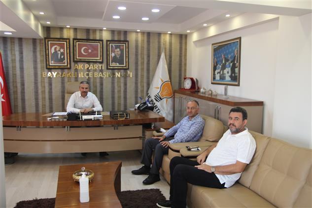 İzmir'de Il Müftümüz Sezik'ten, Ak Parti Bayraklı Ilçe Başkanı Polat'a Iade-i Ziyaret
